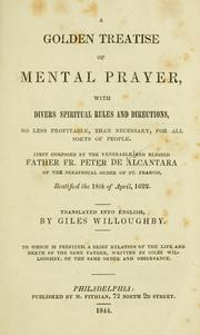 Cover of: A golden treatise of mental prayer