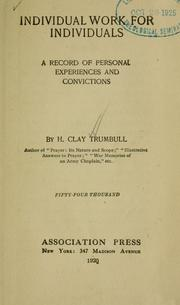 Cover of: Individual work for individuals