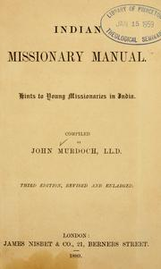 Cover of: Indian missionary manual
