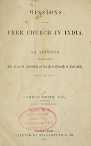 Cover of: Missions of the Free Church in India
