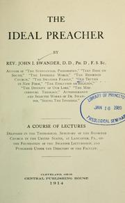 Cover of: The ideal preacher | Swander, John I. 1833-1925.