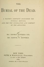 Cover of: The burial of the dead