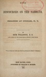 Cover of: Five discourses on the Sabbath