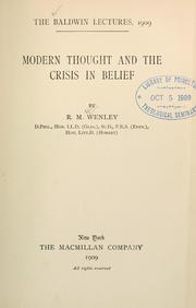 Cover of: Modern thought and the crisis in belief