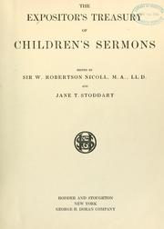 Cover of: The expositor's treasury of children's sermons