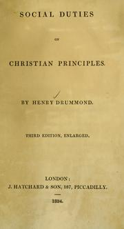 Cover of: Social duties on Christian principles | Drummond, Henry
