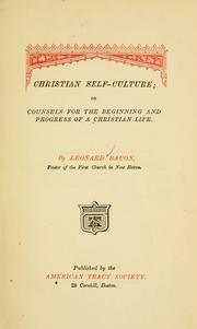 Cover of: Christian self-culture