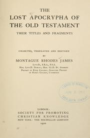 Cover of: The lost Apocrypha of the Old Testament by M. R. James