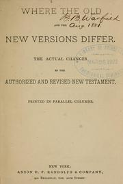 Cover of: Where the old and the new versions differ |