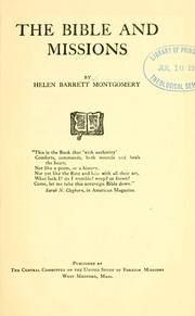 Cover of: Bible and missions | Helen Barrett Montgomery