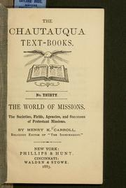 Cover of: The world of missions | Henry K. Carroll