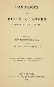 Cover of: Short history of Christian missions from Abraham and Paul to Carey, Livingstone, and Duff