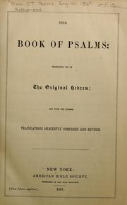Cover of: The book of Psalms |