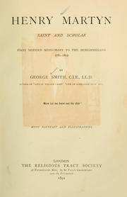 Cover of: Henry Martyn, saint and scholar
