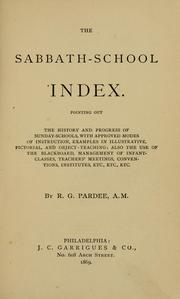Cover of: Sabbath-school index. | Richard Gay Pardee