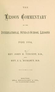 Cover of: The lesson commentary on the International Sunday-School lessons for 1884