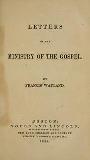 Cover of: Letters on the ministry of the Gospel