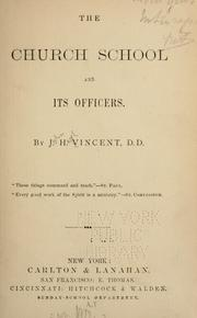 Cover of: The Church school and its officers