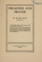 Cover of: Preacher and prayer