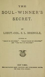 Cover of: The soul-winner's secret