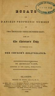 Cover of: Two essays on Daniel