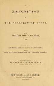 Cover of: An exposition of the prophecy of Hosea