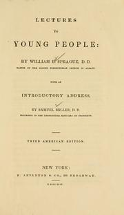 Cover of: Lectures to young people: with an introductory address by Samuel Miller