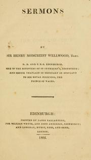 Cover of: Sermons. | Henry Moncreiff-Wellwood