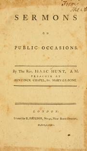 Cover of: Sermons on public occasions