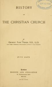 Cover of: History of the Christian church