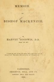 Cover of: Memoir of Bishop Mackenzie. | Harvey Goodwin