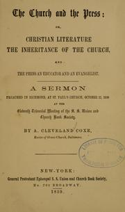 Cover of: The church and the press