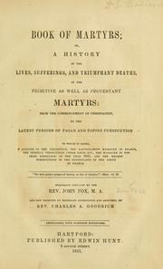 Cover of: Book of martyrs | John Foxe