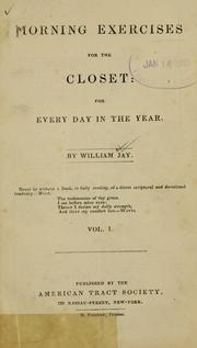 Cover of: Morning exercises for the closet