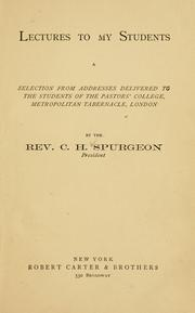 Cover of: Second series of lectures to my students | Charles Haddon Spurgeon