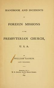 Cover of: Handbook and incidents of foreign missions of the Presbyterian church, U.S.A