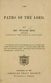 Cover of: The paths of the Lord | Reid, William