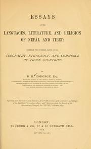 Cover of: Essays on the languages, literature, and religion of Nepál and Tibet