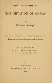 Cover of: The imitation of Christ