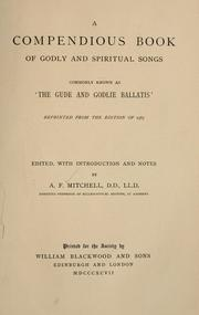 Cover of: A compendious book of godly and spiritual songs commonly known as
