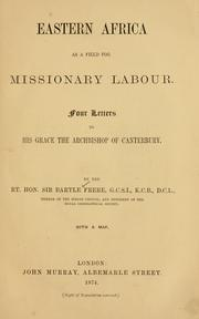 Cover of: Eastern Africa as a field for missionary labour