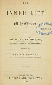 Cover of: The inner life of the Christian