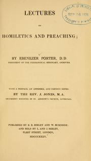 Cover of: Lectures on homiletics and preaching