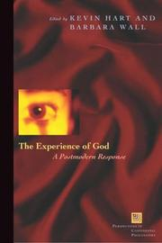 Cover of: The Experience of God: A Postmodern Response (Perspectives in Continental Philosophy)