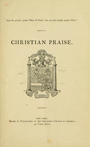 Cover of: Christian praise. | Reformed Church in America.