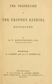 Cover of: The prophecies of the prophet Ezekiel elucidated