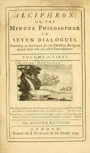 Cover of: Alciphron, or, The minute philosopher, in seven dialogues
