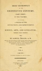 A brief retrospect of the eighteenth century by Miller, Samuel