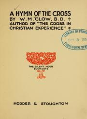 Cover of: A hymn of the cross