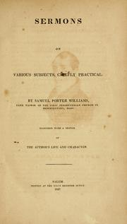Cover of: Sermons on various subjects, chiefly practical